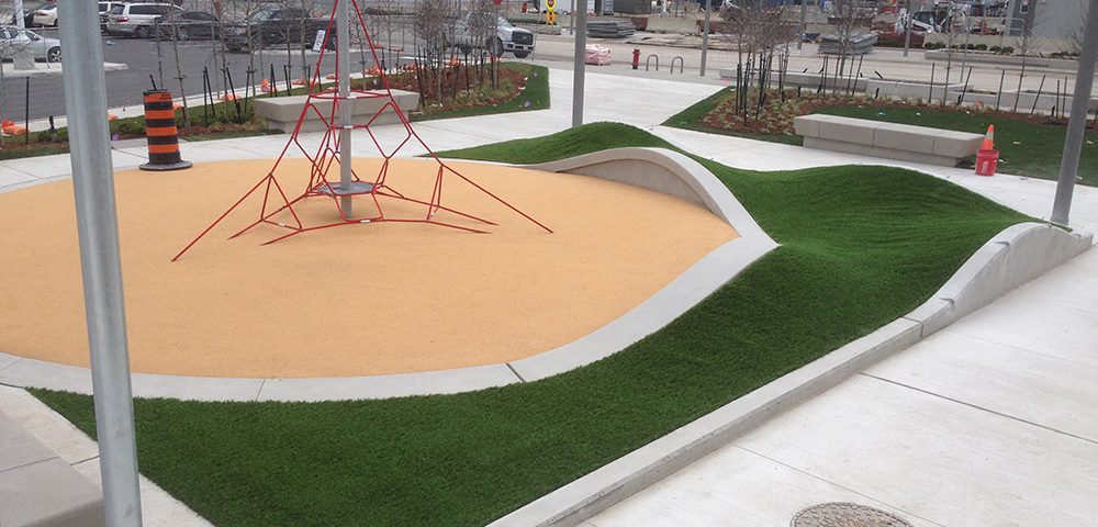 play center for kids with synthetic turf in mississauga square one
