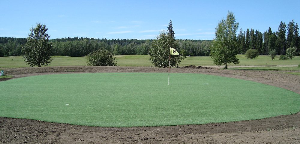 new artificial golf turf putting green