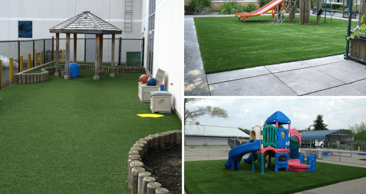 Artificial Playground Grass For Kids