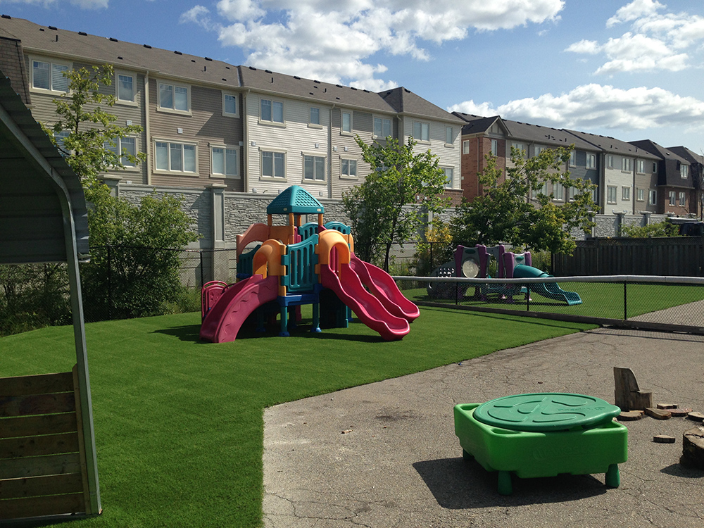 private play area with fake grass surface near toronto
