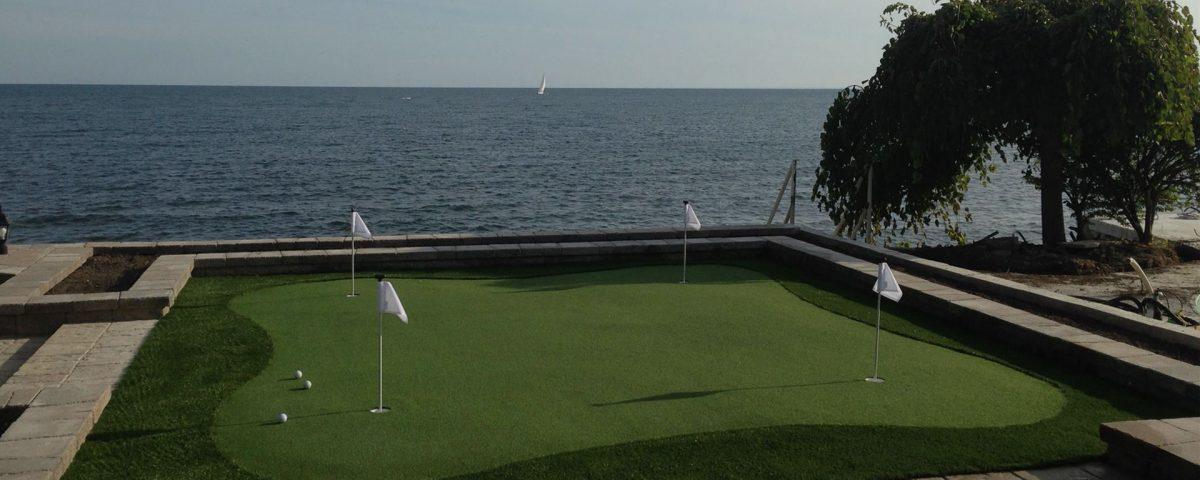 Wonderful backdrop on this 4-hole fringe turfed green