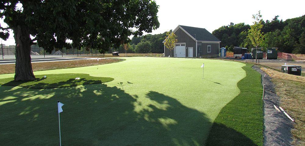 beautiful artificial golf turf