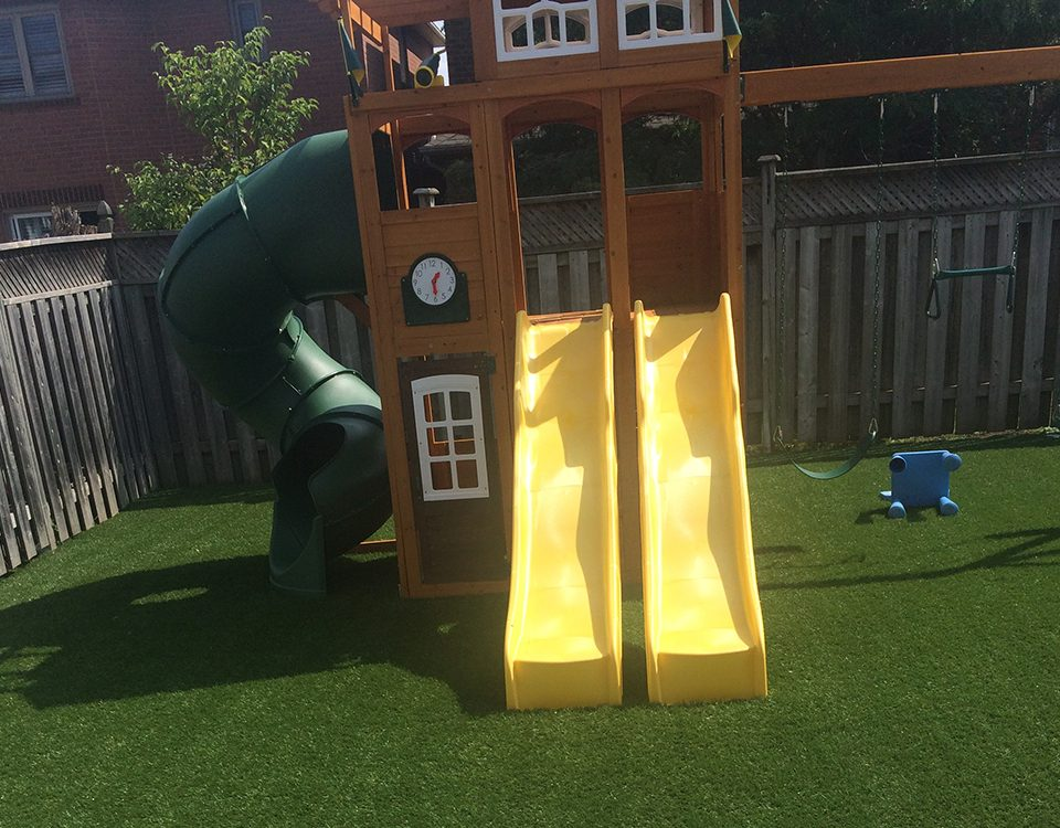 backyard playground turf toronto