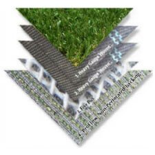 synthetic turf backing for better drainage