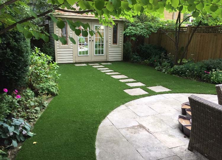 Our artificial turf creates a welcoming, cool space to any yard