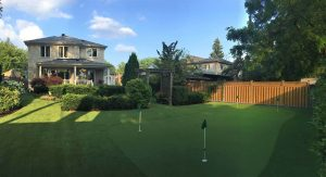 Beautiful Scarborough backyard putting green