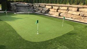 Artificial grass lawn & golf green