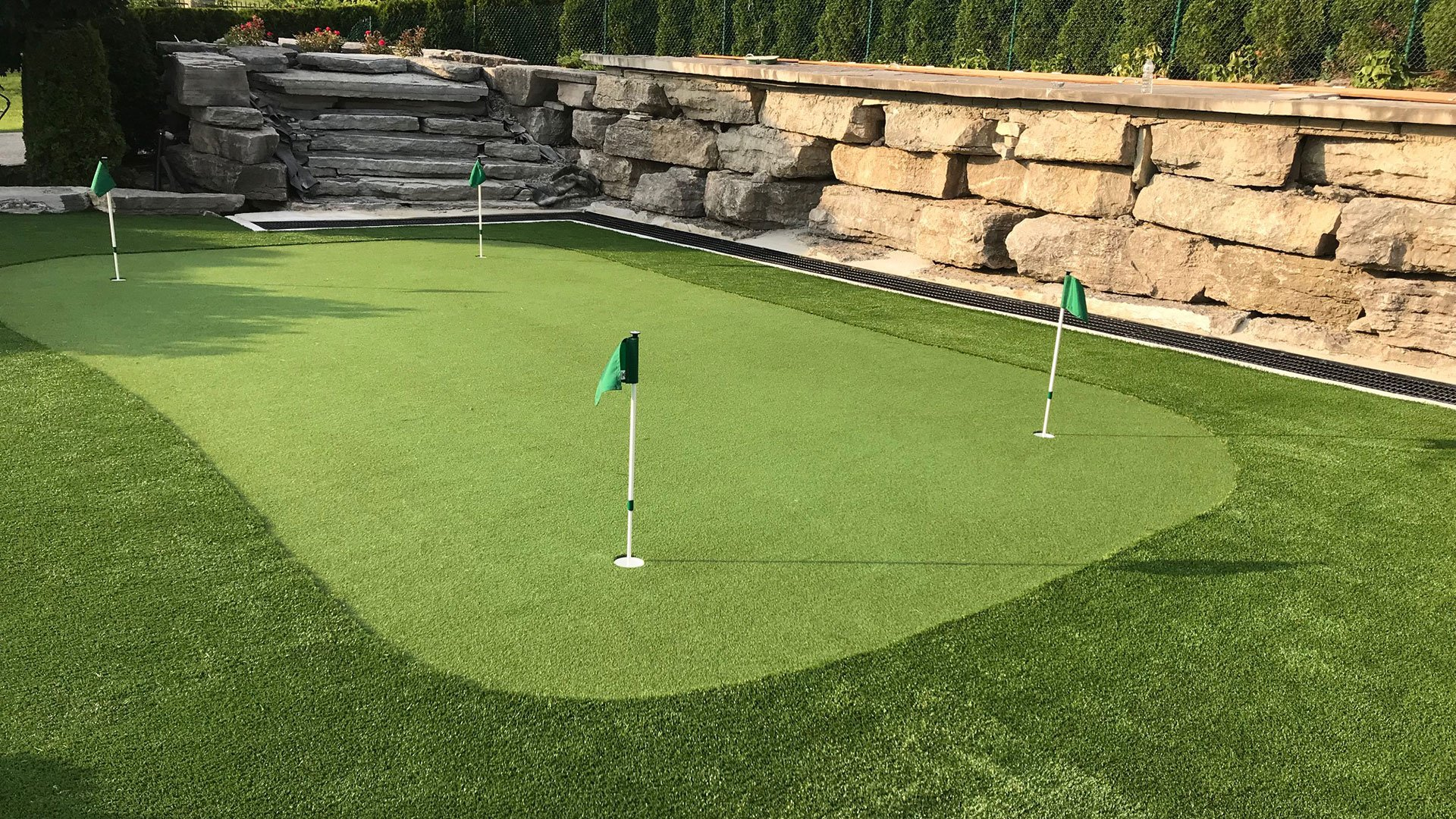 Artificial grass lawn & golf green
