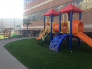 Very Fun playground with foam pads for extra cushioning
