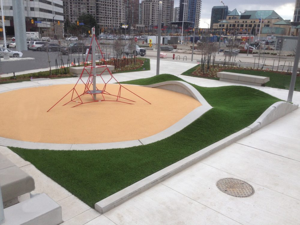 Award winning artificial grass installation for Toronto playground