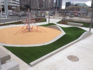 Award winning artificial grass installation for Toronto playground