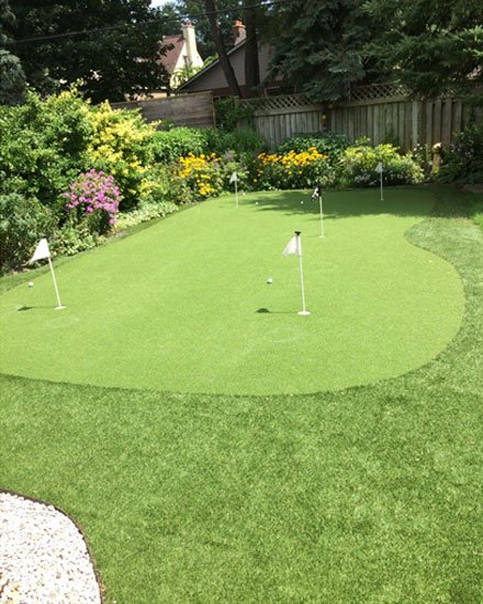 Artificial Golf Green in Garden