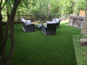Get the patio chairs out on synthetic turf