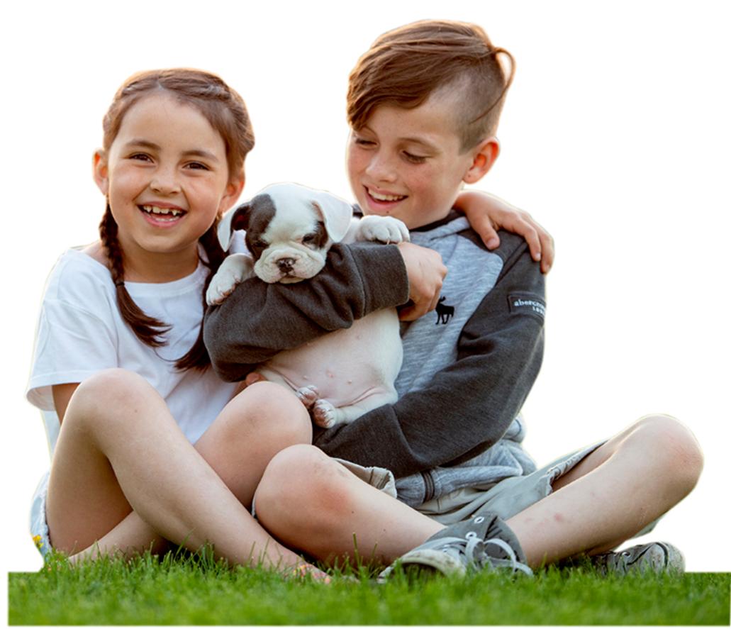 Kids on artificial playground grass
