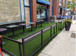 design-turf-artificial-grass-outdoor restaurant Toronto