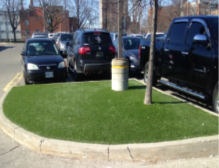 Artificial grass toronto mall medians