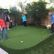 Shawn Clement and family play on their new Oshawa golf green