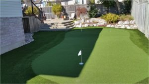The Perfect Side-yard synthetic golf green