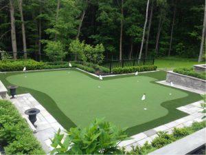 golf green in King City backyard