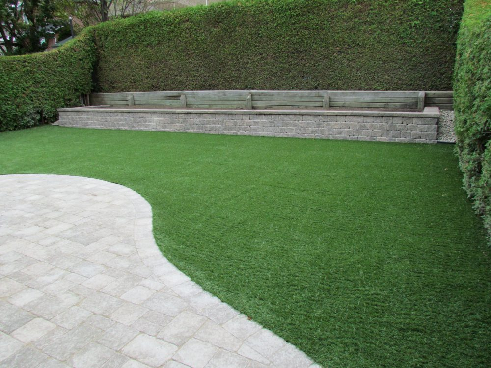Splendid use of landscape grass with well planned walls and pavers