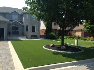 Front yards look great with artificial grass