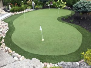 Wonderful curved shaped green provides homeowners with truly addition to overall landscaping