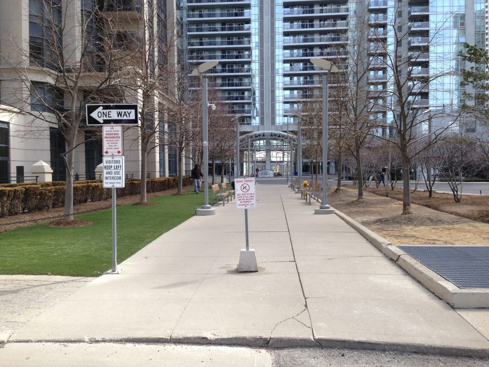 Synthetic grass for busy condos