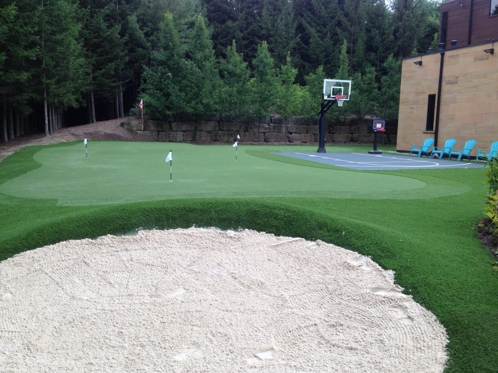 Ohio White Sand Traps on a professionally designed golf green