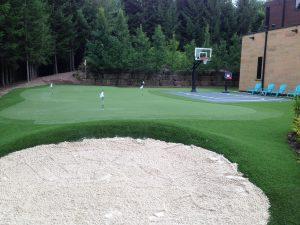 Ohio White Sand Traps on a professionally designed golf green