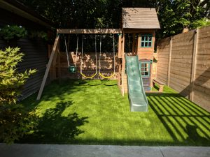 Let the kids swing without ripping up the grass