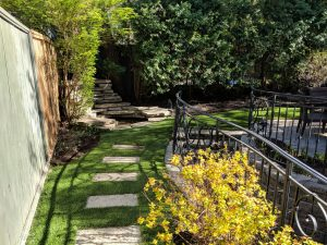 Hard to mow areas are perfect for artificial grass