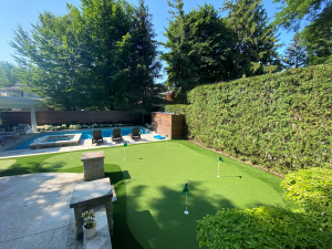 Beautifully landscaped backyard. Entertainers dream property in Toronto