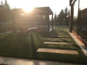 Our synthetic turf adds to landscape aesthetic