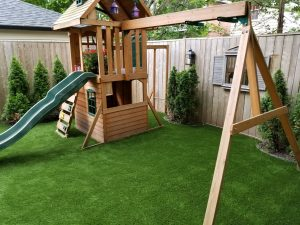 Kids play-sets and no worry grass