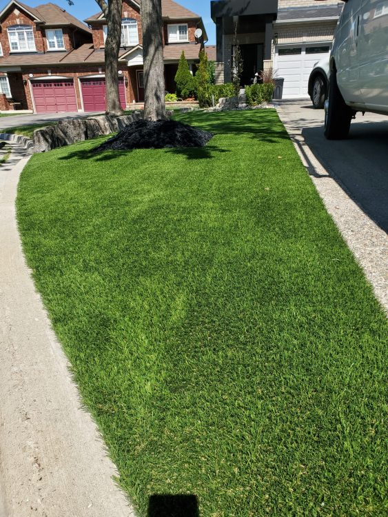 Synthetic Front lawn installation