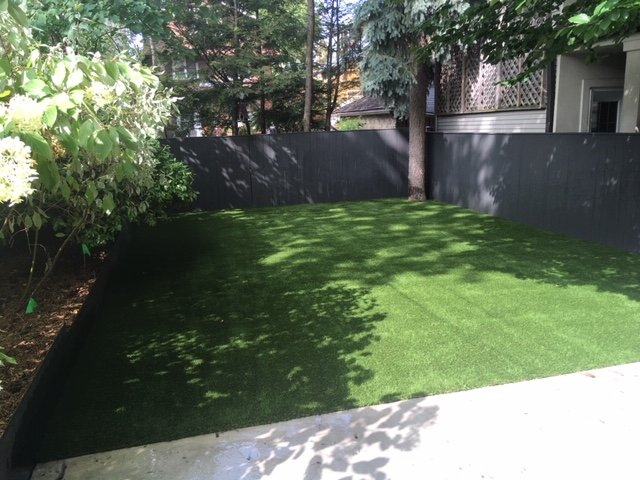Lovely Landscaped backyard with no-maintenance 30-40 years