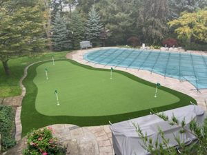 slight elevations for true mimicking of putting practice