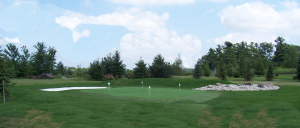 4-hole artificial golf-green with sand traps & rock piles