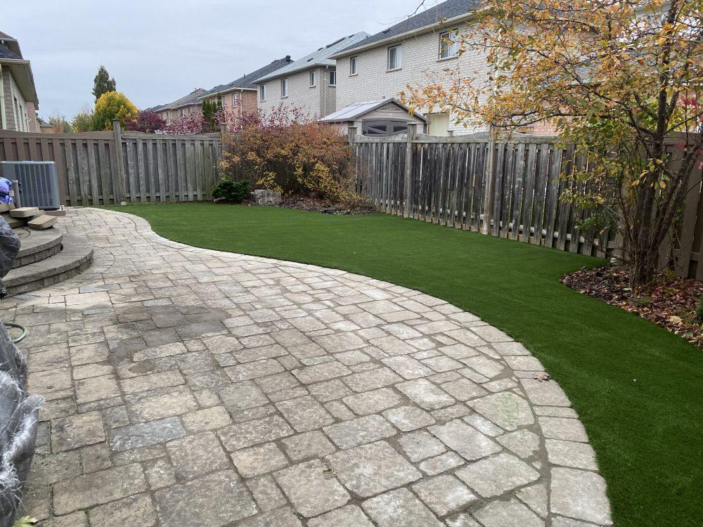 lovely Maintenance free backyard