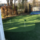 4 hole with basket ball court in background