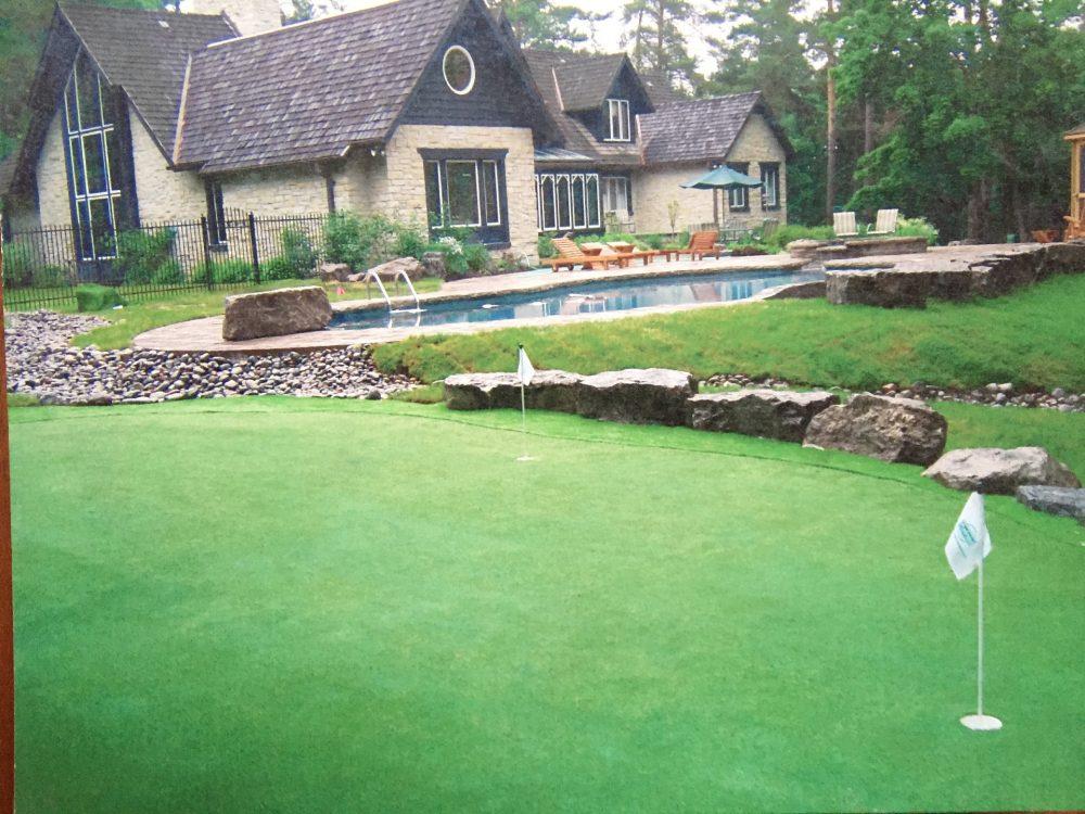 Stouffville estate large golf green