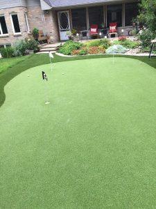 Etobicoke backyard artificial golf green