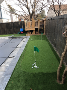 swimming pool kids place and golf green