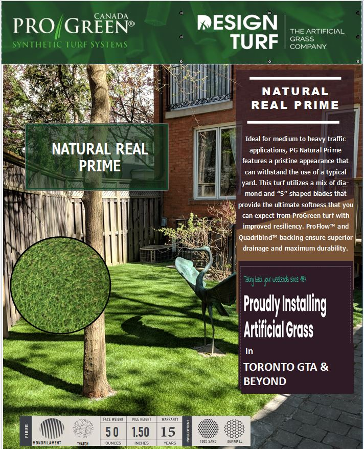 Welcoming Toronto garden with artificial turf